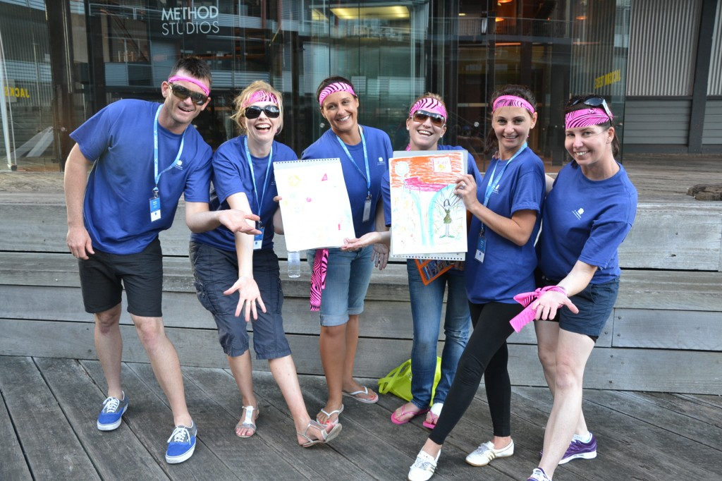 amazing race sydney corporate group celebrating their creative team building activities