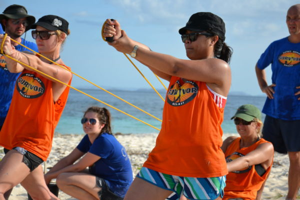 Sling shot survivor team building activities