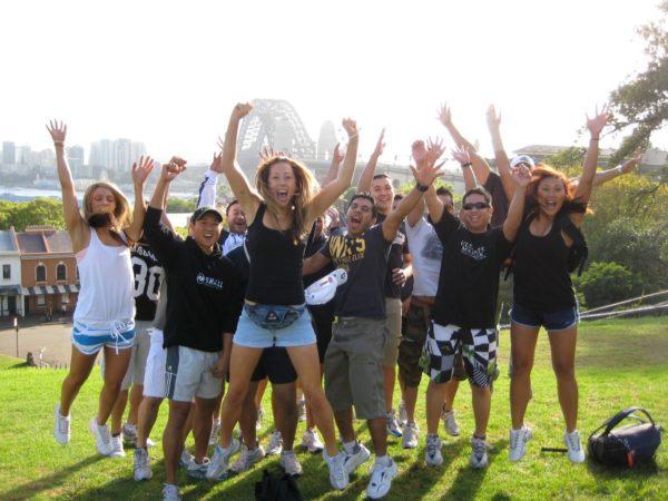 Amazing Race Sydney team celebration