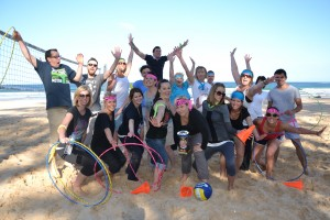 beach team building games Manly and Coogee Beach