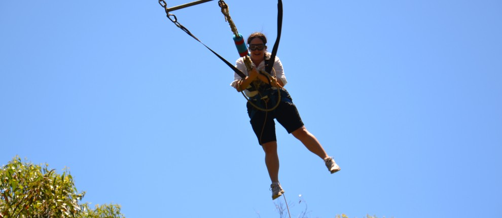 giant swing high ropes course challenge adventure team building