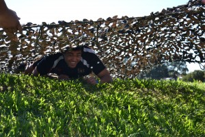 obstacle courses army camoflauge net hire