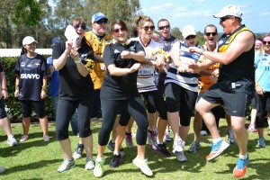 Dancing their way to completing the Warrior Challenge