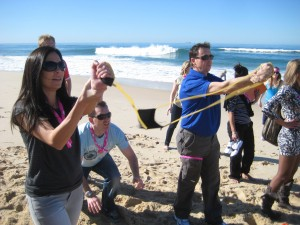 amazing races on the Beach activities are so much fun for team building
