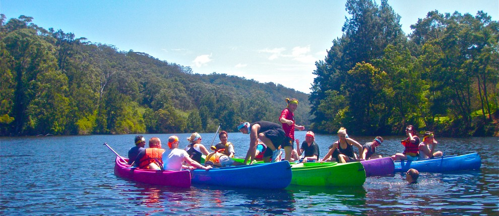 canoeing adventure tours australia team building