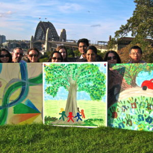 Wild art corporate team building activities - painting, fun. art escape in sydney
