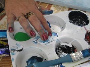 wild art finger painting
