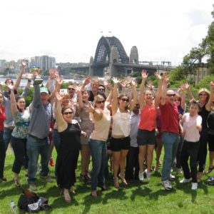 Sydney corporate groups starting their amazing race team Building Activities by Bush Sports