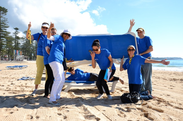 Corporate Team Building Activities on Manly Beach Playing Games near Manly Novotel