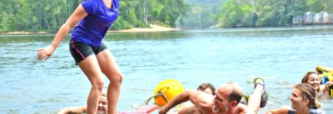 Raft Building Challenges on the Hawkesbury, Sydney