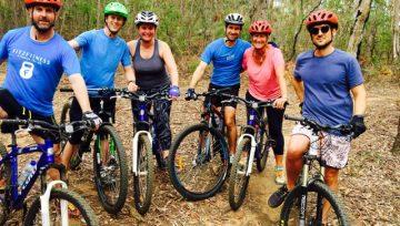 Mountain Biking Fun Single Track and Open Trails around Sydney