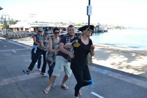 Treasure Hunt Team dancing together