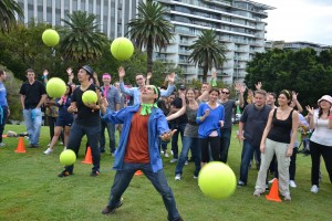 sydney amazing race fun team building team activities ball juggling circus skills exercise