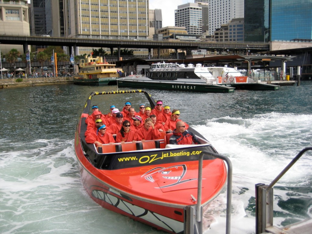 sydney oz jet thrill ride on Sydney amazing race jet boats