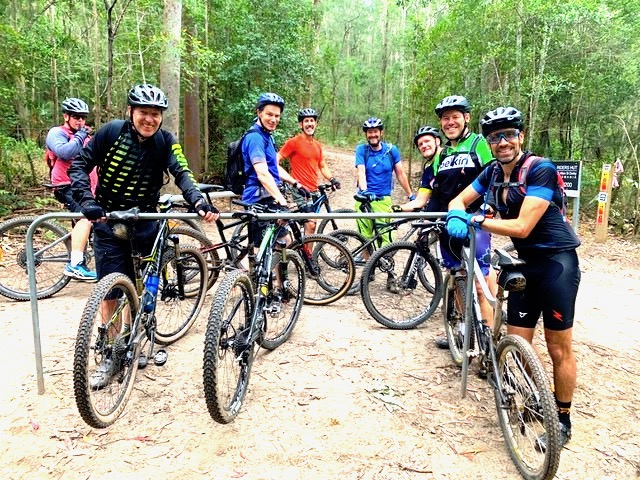 Guided cycling tours along gravel bike roads and single track mountain bike trails with flow trails and beer