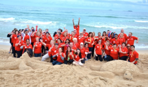Beach activities for corporate groups around Sydney on Bondi beach, Coogee Beach and Manly Beaches