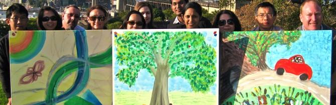 Wild art corporate team building activities - painting, fun. art escape in sydney