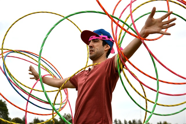 Hula Hoop Fun team building games for adults in Sydney