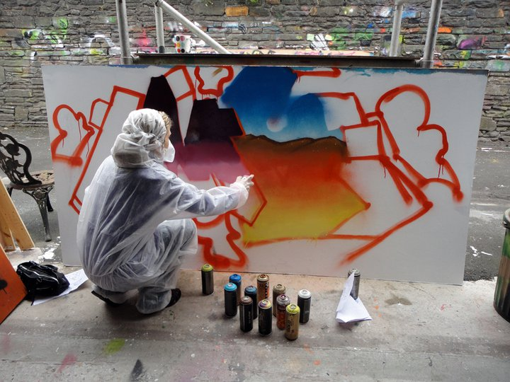 Graffiti team building art workshops in Sydney