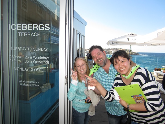Bondi Amazing Race Team Building Event in Action at Icebergs